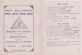 programme 1879 con Clowns Cianchi Circo Fassio