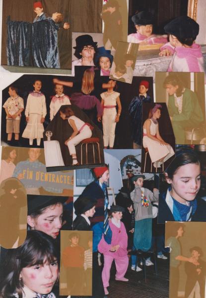 mes petits élèves en 1987, dont Romane Borhinger en haut à droite avec la casquette.