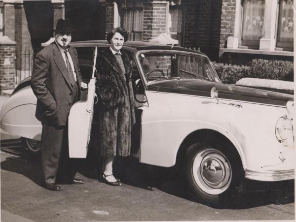Mon grand père et ma grand mère à Londres ...