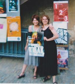 Avec Marie Gwenn à Avignon 2006