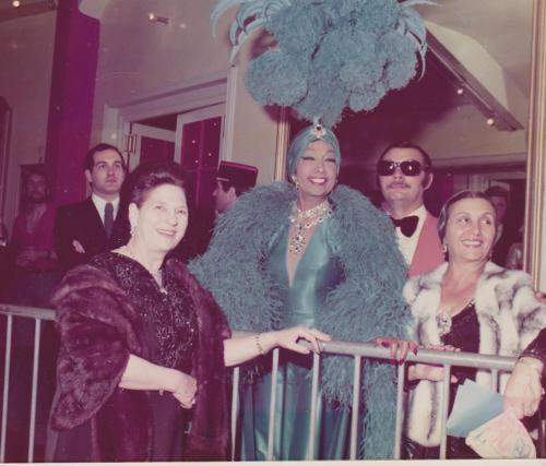 Tante Régina Bouglione,  Joséphine Baker et Rosa Bouglione au Cirque d'Hiver 001